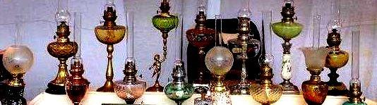 quelques lampes anciennes restaurées par mes soins