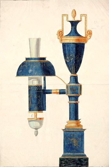 lampe à essence nommée quinquet