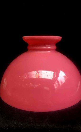 Opaline rose pour lampe à pétrole