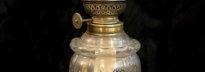lampe à pétrole colonne onyx pied bronze