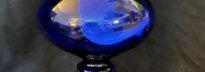 lampe à pétrole entièrement en pâte de verre
